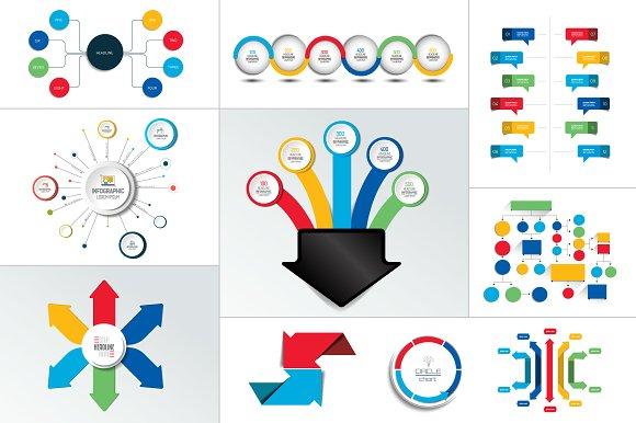 Infographic Element Big Set Vector