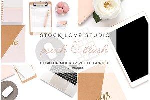 Blush & Peach Desktop Mockups