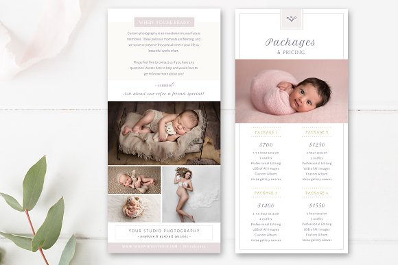 Photography Rack Card Template