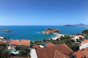 Sveti Stefan island in Montenegro.