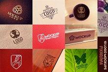 10 Logo Mockups Vol.1