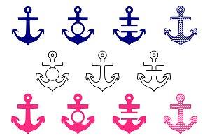 Anchor svg monogram frame