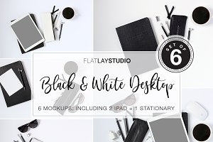 FLAT LAY - SET OF 6 BLACK WHITE #13