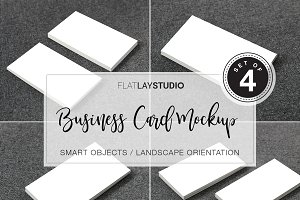 BUSINESS CARD MOCKUP - SET OF 4 #129