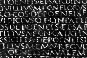 Antique Roman Typographic Pattern