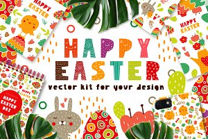 Happy Easter - Vector Kit