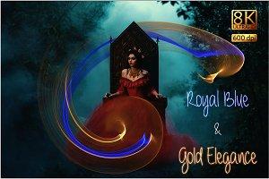 Royal Blue & Gold Elegance