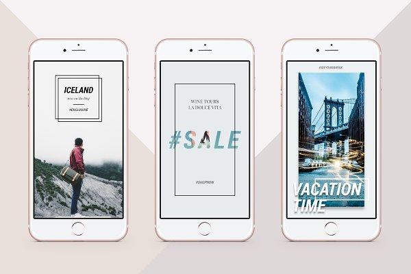 Clean & Modern Instagram Stories