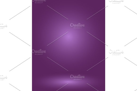 Empty Purple Studio Room Used As Background For Display Your Products Vector