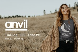 Anvil 880 Womens TShirt Model Mockup