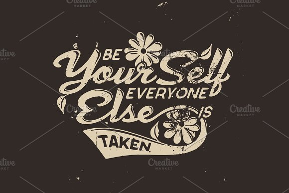 Be Yourself T-shirt Design