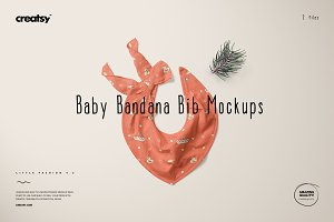 Baby Bandana Bib Mockup Set