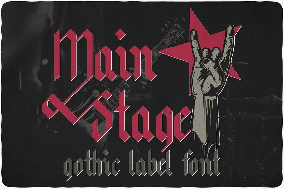 Main Stage Typeface