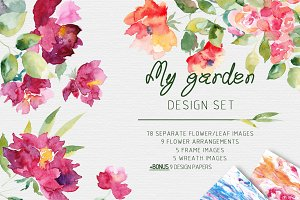 My Garden Flower Graphic Set