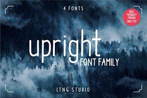 Upright font family