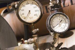 Vintage Pressure Gauges Abstract