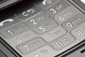 Grey Detailed Cell Phone Number Pad