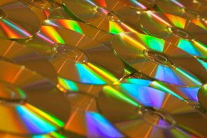 Golden Data CDs or DVDs Background