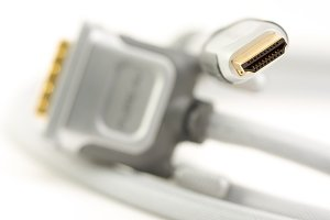 HDMI Cable Macro with Narrow Focus