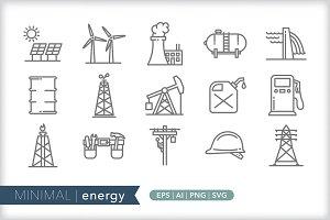 Minimal energy icons