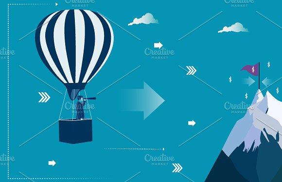 Businessman At The Air Balloon