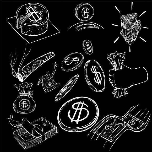 Illustration Set Of Finance