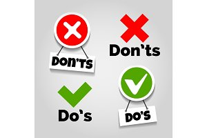 Do and dont icons