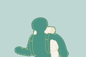 Illustration of wanderlust icon