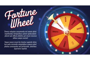 Motion fortune wheel poster