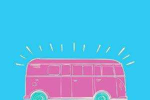 Illustration of wanderlust icons