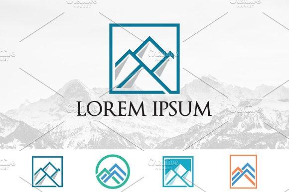 Simple Abstract Mountain Logo