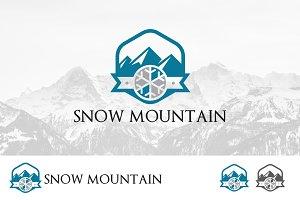 Snowflake Mountain Hexagon Logo