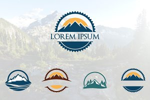 Circle Mountain Logo Set