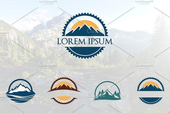 Circle Mountain Logo Set