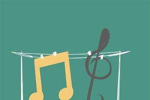 Illustration of music entertainment