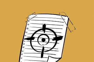 illustration of goals target concept
