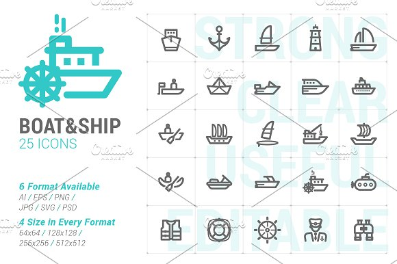 Boat Ship Mini Icon
