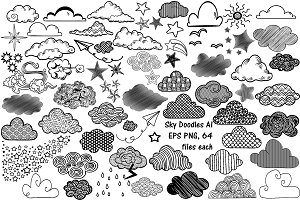 Sky (Clouds, Stars, Etc) AI EPS PNG