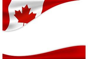 Canada day banner background
