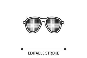 Pinhole glasses linear icon