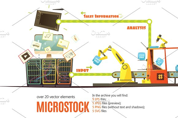 Microstock Business Concept Set