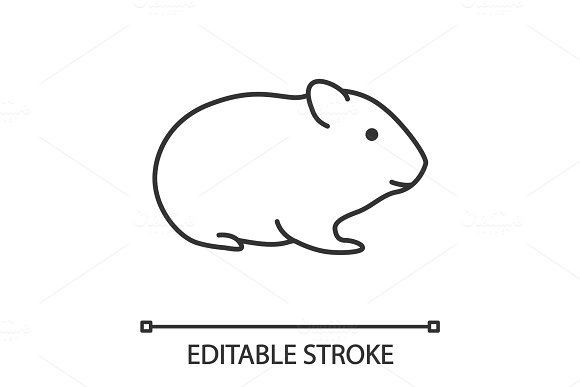 Hamster Linear Icon