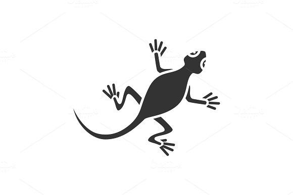 Lizard Glyph Icon