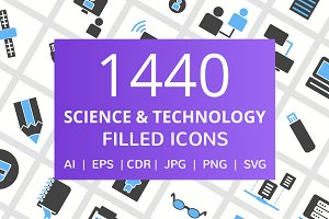 1440 Technology Filled Icons