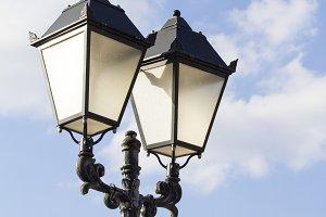 Street light metallic black