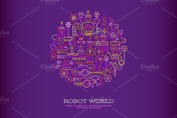 Robot World Round Shape