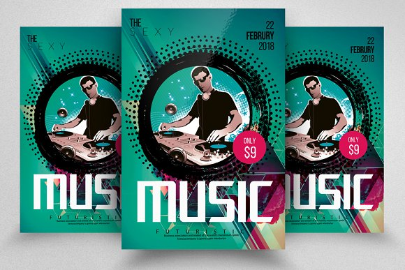 Electro Music Party Flyer Template