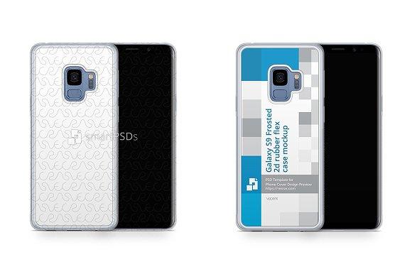 Galaxy S9 2d Frosted RubberFlex Case