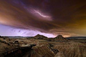 Storm over Bardenas