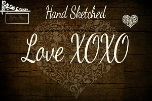 Hand Sketched Love XOXO Vectors